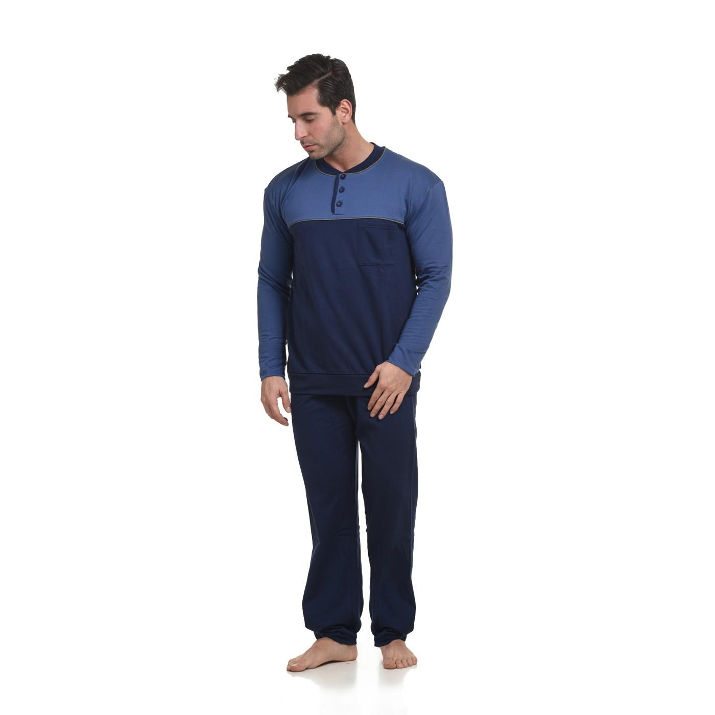 7f4d6e28d1f Ανδρική Πυτζάμα βαμβακερή φούτερ Max Μέγεθος με τσέπη -ΠΛΦ0106
